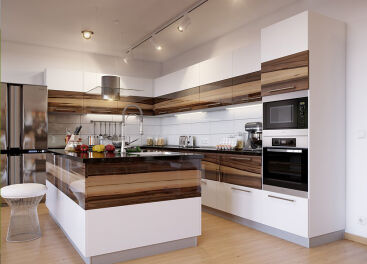 Заказать кухни МДФ для выгодной модернизации интерьера