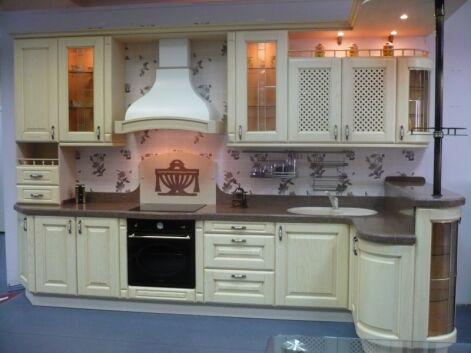 Кухня угловая «Мистерия» — светлый лен