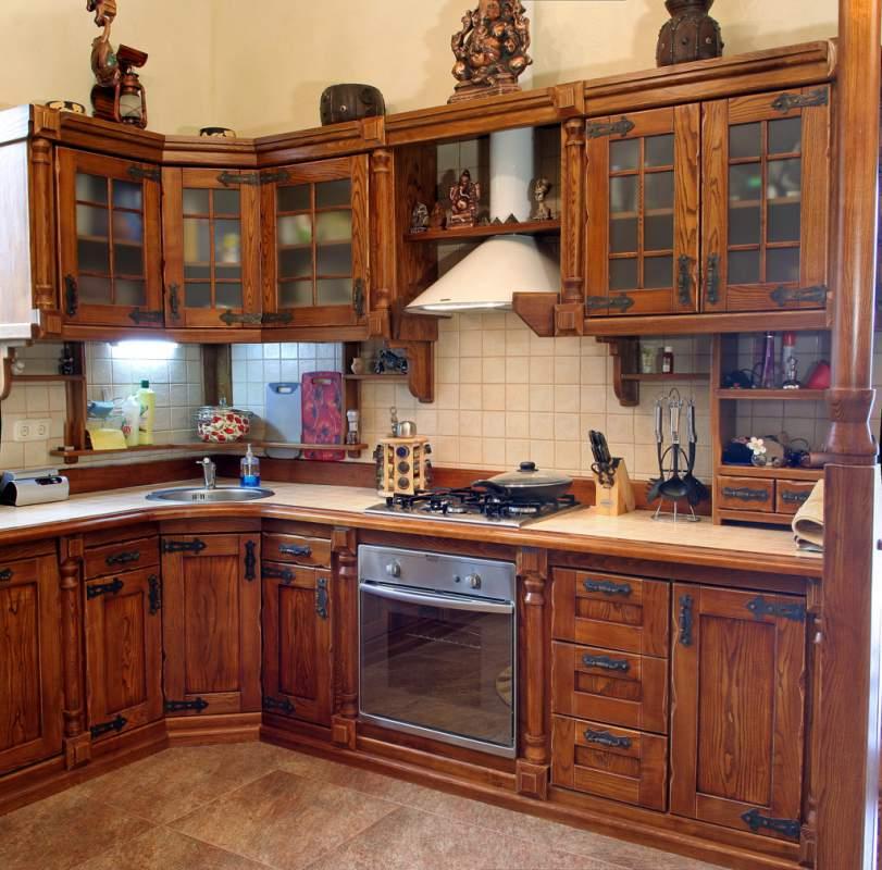 Кухни из натурального дерева фото своими руками