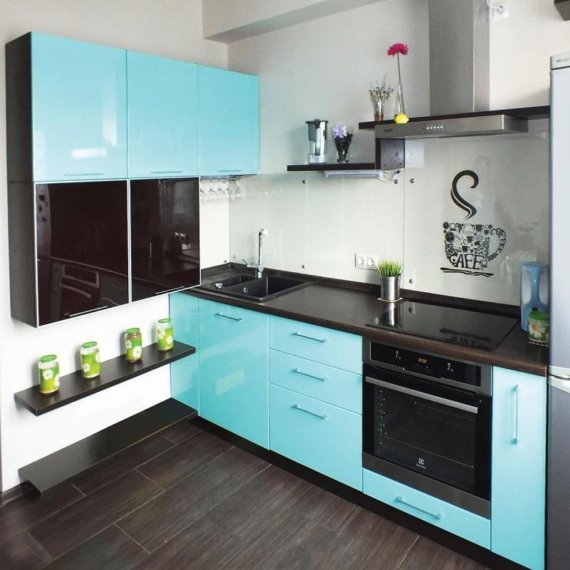 Кухня бирюзового цвета фото