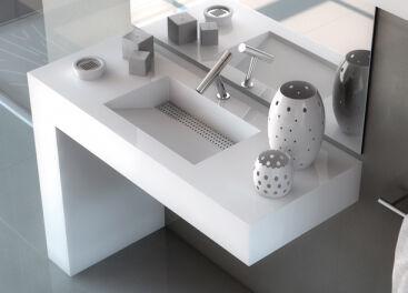 Столешницы для ванной из искусственного камня