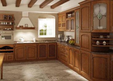 Авторские кухни из массива дуба: особенности и достоинства материала