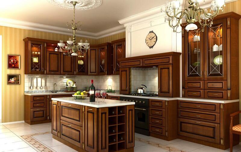 уход за деревянной кухней